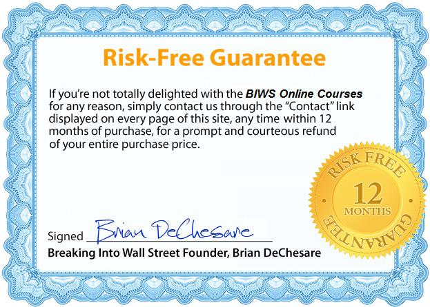 12-Month Risk Free Guarantee